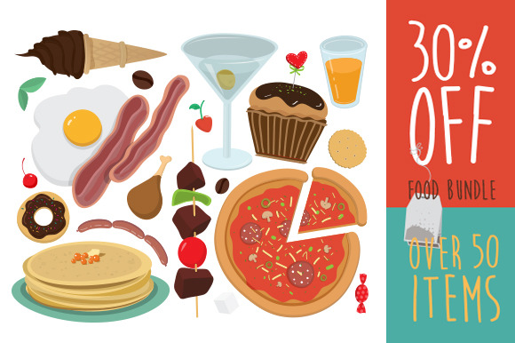 All Vector Food In One Bundle