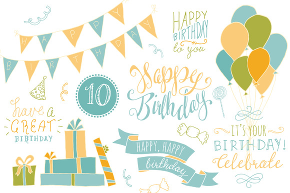 Birthday Photoshop Overlays