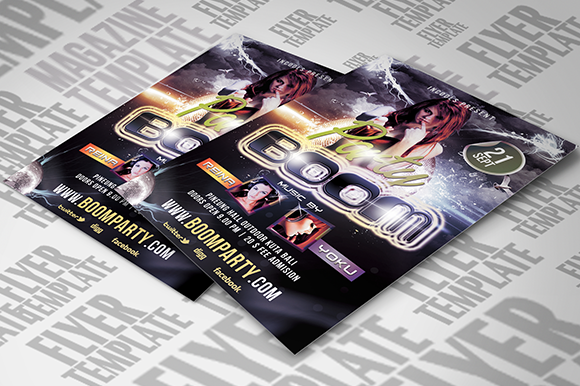 BooM Party Flyer Template
