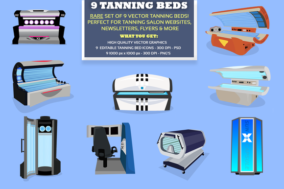 9 Tanning Bed Graphics And Icons