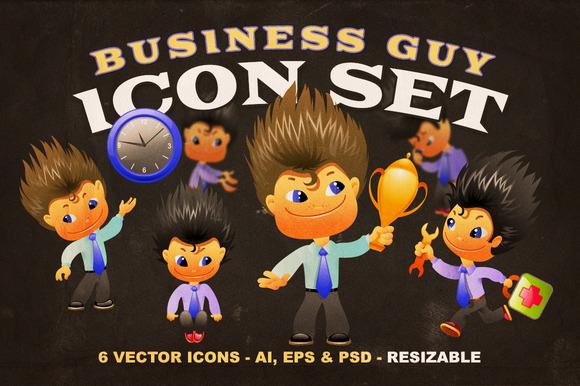 Business Guy Icon Set