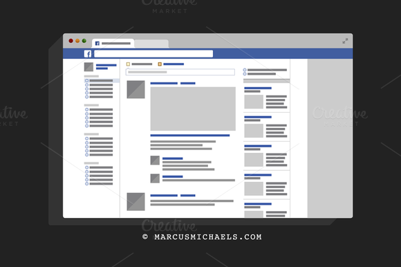 Facebook UI Template