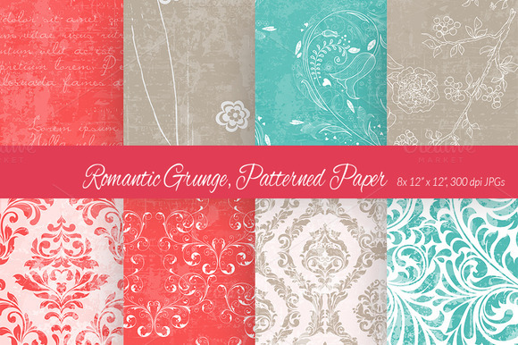 Romantic Grunge Digital Paper 2