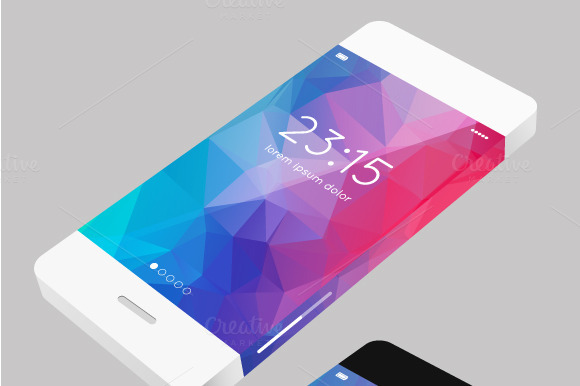 Vector Template Phone In Flat Style