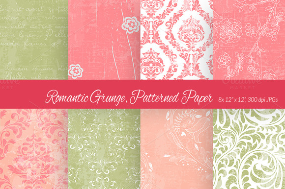 Romantic Grunge Digital Paper 3