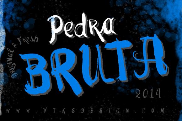 Pedra Bruta New VTKS Font