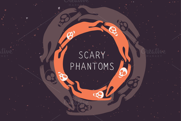 Scary Phantoms Seamless Patterns