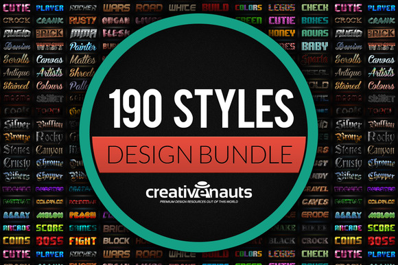 190 Styles Effects For Photoshop