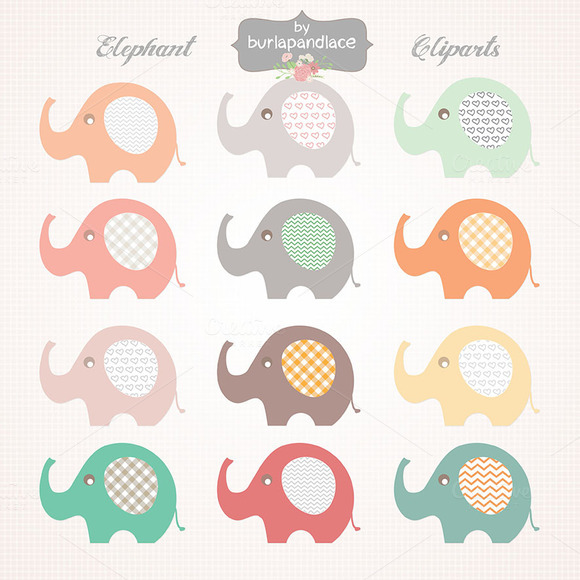 Baby Elephant Clipart