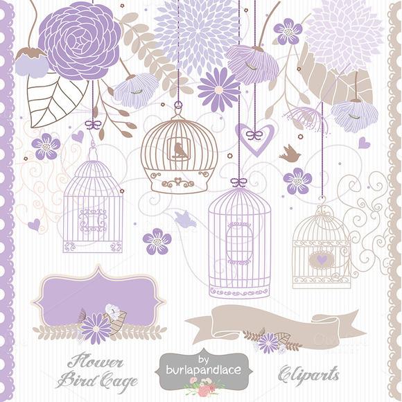 Flower Bird Cage Clipart