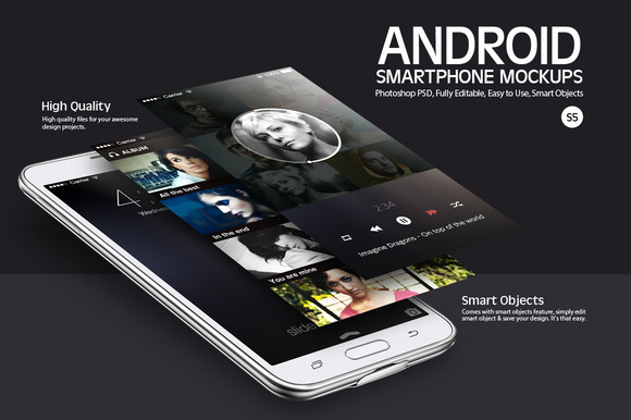 Android Smartphone Mockups S5