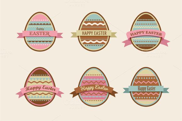 Easter Eggs Vector Set