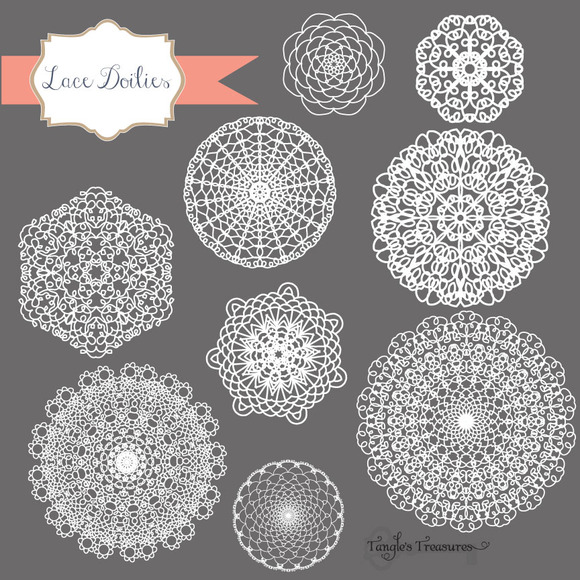 Hand Drawn Lace Vectors