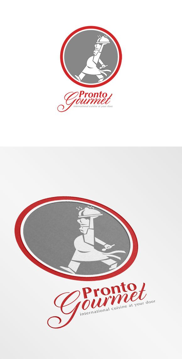 Pronto Gourmet Retro Logo
