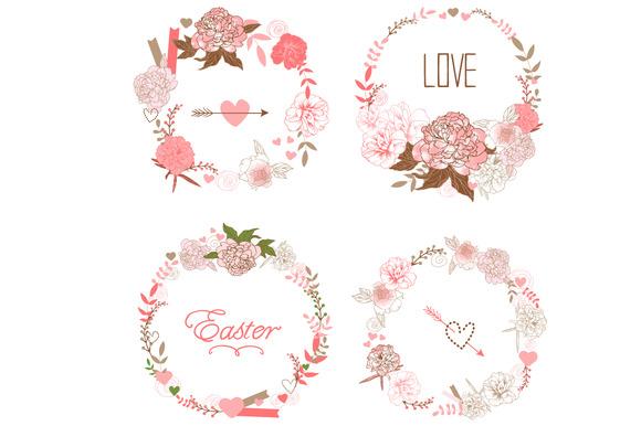 Floral Wreaths Set