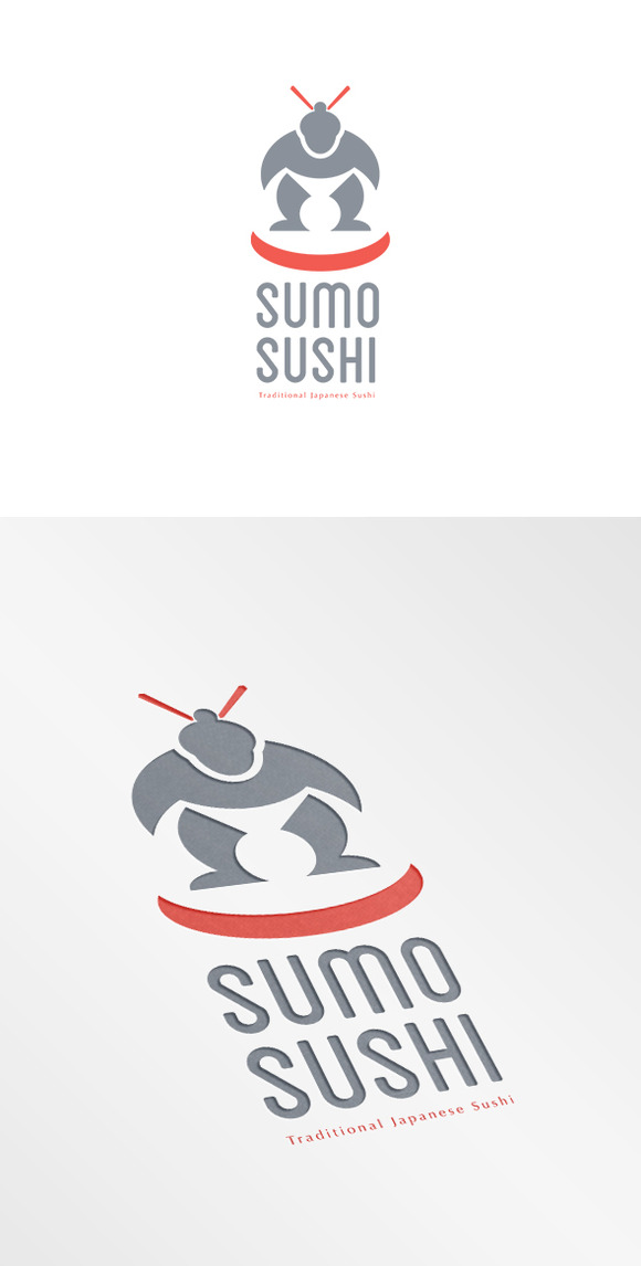 Sumo Sushi Traditional Japanese Logo