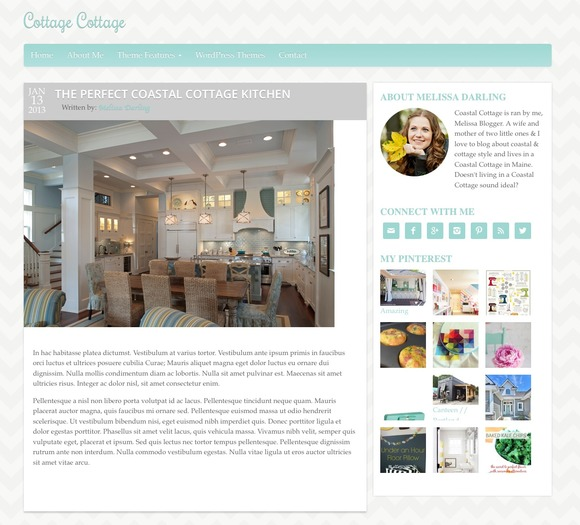 Coastal Cottage WordPress Theme