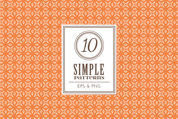 Set Of 10 Simple Patterns Vol 1