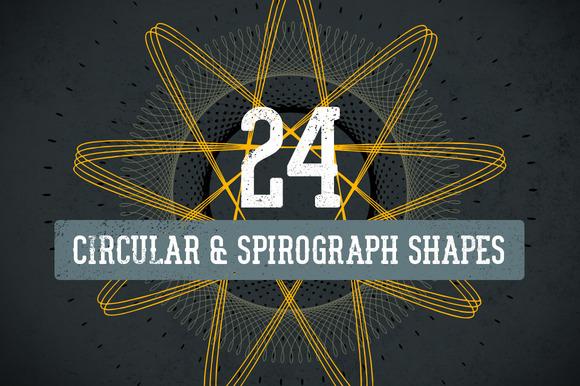 Circular Spirograph Vector Pack 1