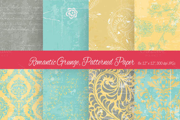 Romantic Grunge Digital Paper 4