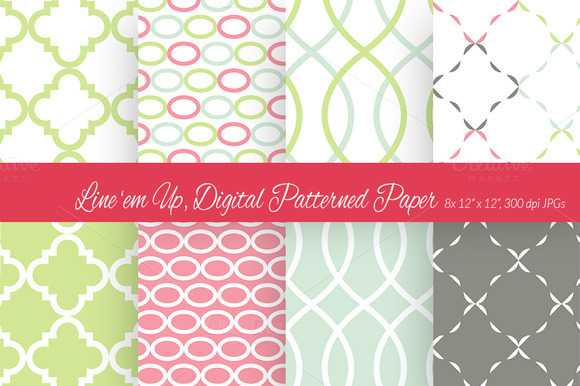Line Em Up Digital Paper 2