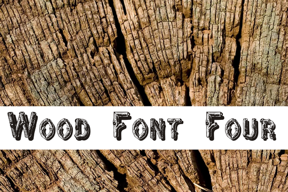 Wood Font Four