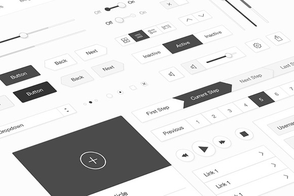 Minimal White UI Kit