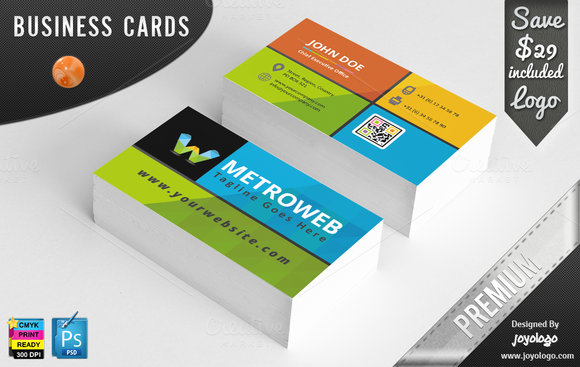 Metro Style Flat Business Cards