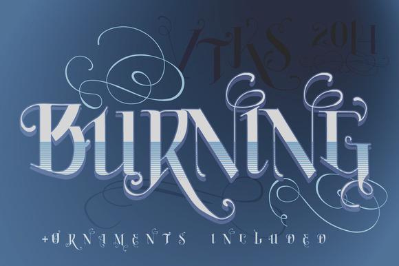 Burning VTKS Font