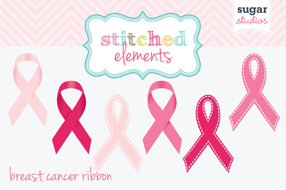 Breast Cancer RibbonsDigital Clipart