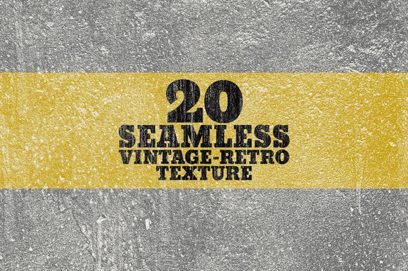 20 Seamless Vintage-Retro Texture