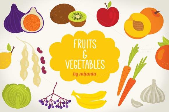 Alphabet With Fruits And Vegetables