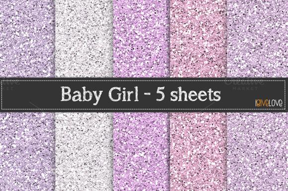 Baby Girl Glitter Paper Pack