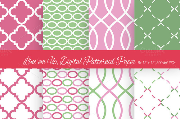 Line Em Up Digital Paper 3