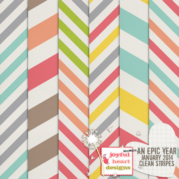 An Epic Year-Jan {clean Stripes}