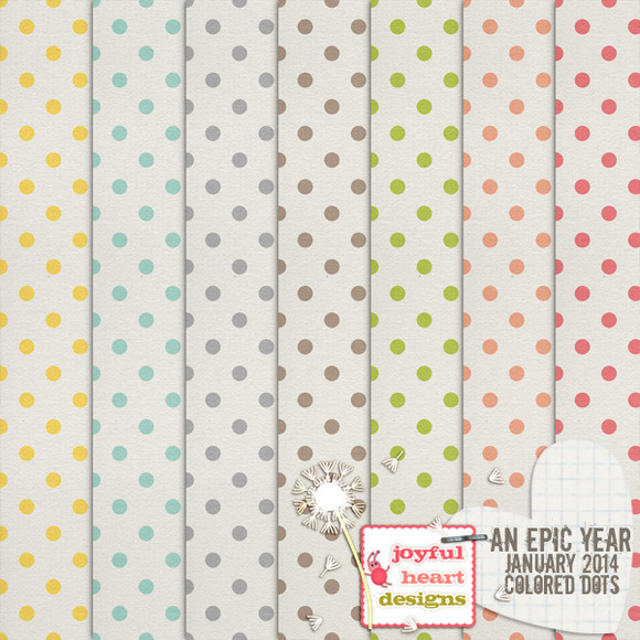 An Epic Year-Jan {colored Dots}