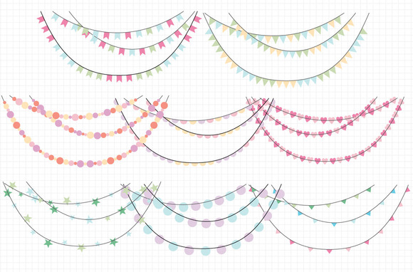 Garland Banner Clip Art