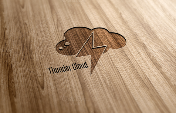 Thunder Cloud Logo Design