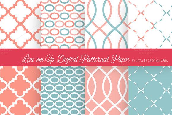 Line Em Up Digital Paper 4