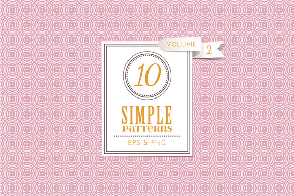 Set Of 10 Simple Patterns Vol 2