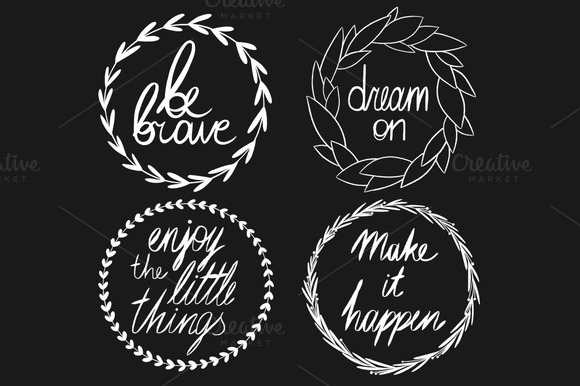 Set Of Inspiring Quotes