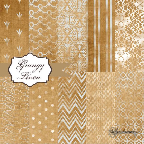 Grungy Linen Digital Paper