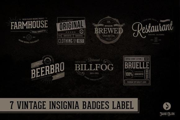 Vintage Typographic Insignia Vol 01