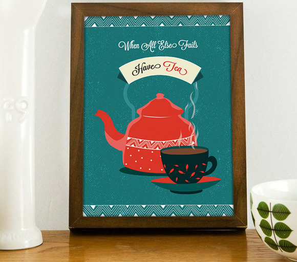 When All Else Fails Have Tea Poster