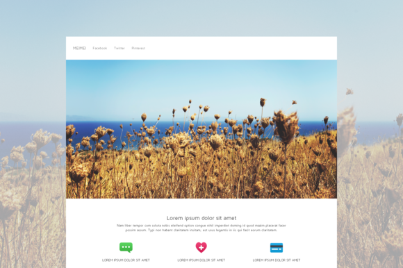 Meimei One Page HTML Template