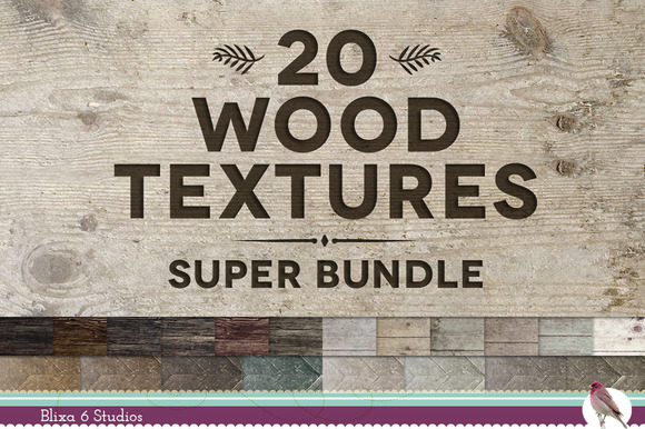 20 Wood Textures Super Bundle
