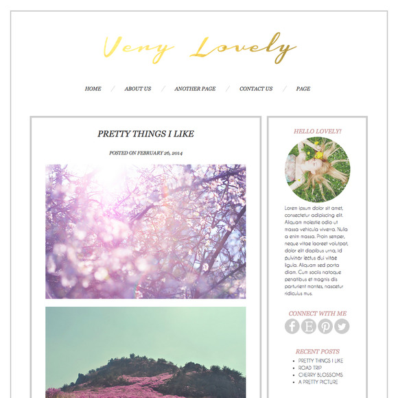 Very Lovely Wordpress Blog Theme