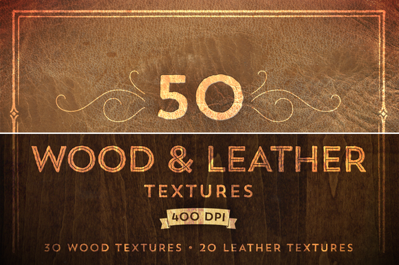 50 Wood Leather Textures