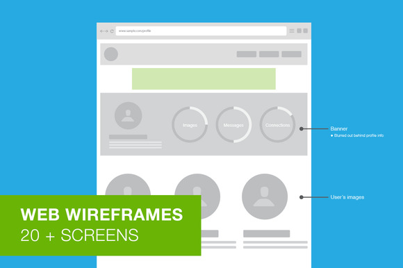 Web Wireframes User Flow