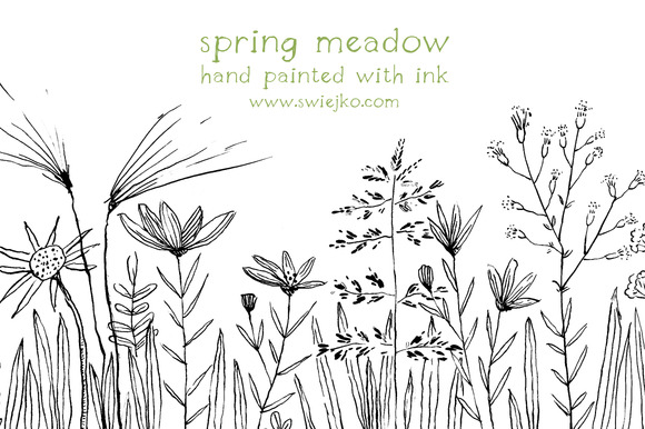 Floral Doodles Flowers Meadow